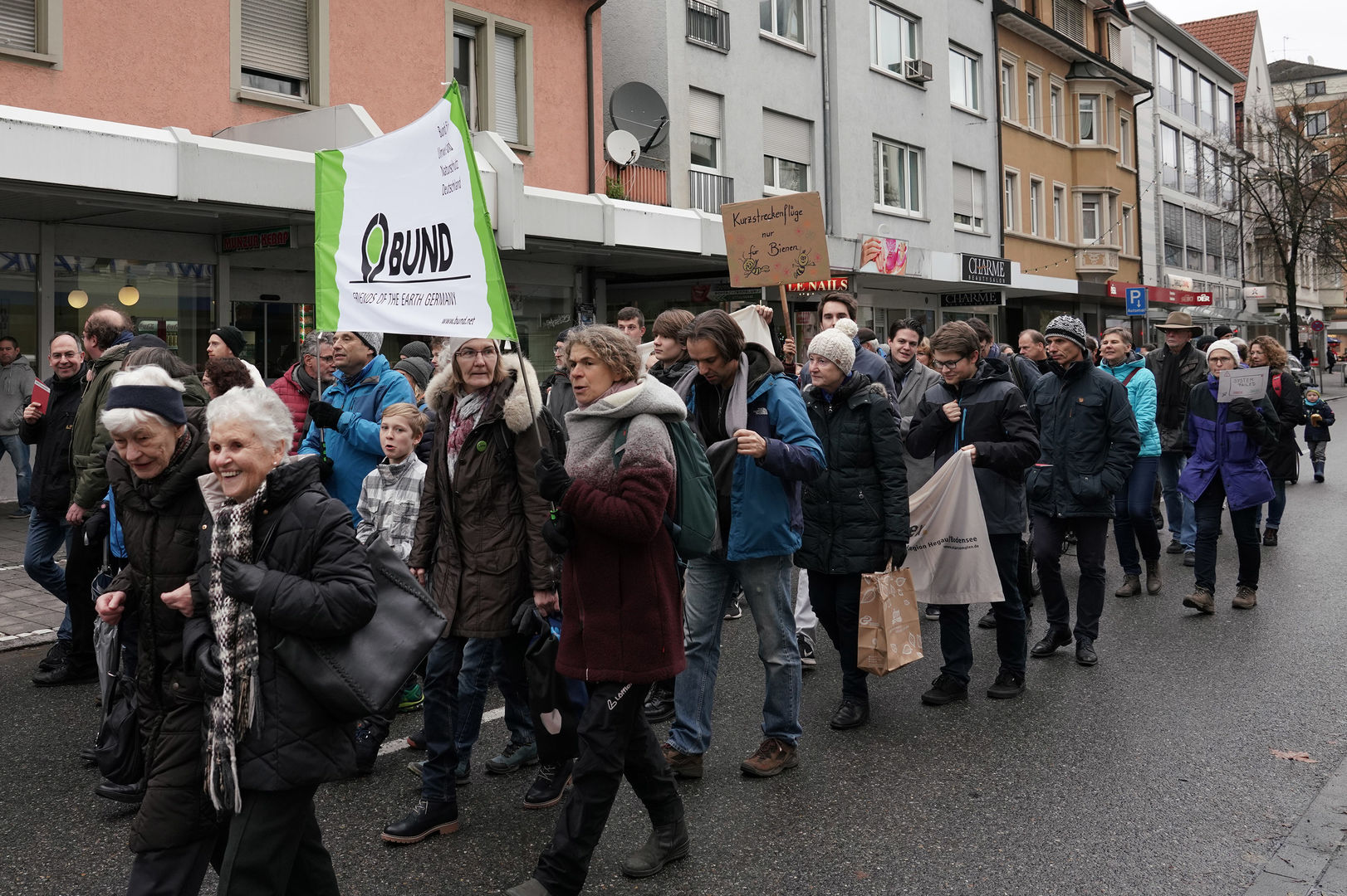 Teilnahem an der Friday-for-Future Demo in Singen am 29.11.2019